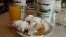 At the Cafe Du Monde