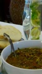 Matar with mushroom & Peas