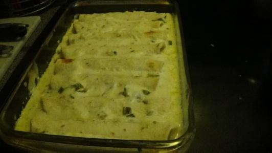 Baked Spinach Enchiladas