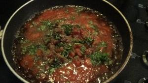 Marinara Sauce Simmering