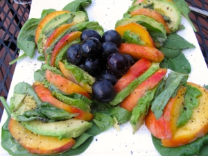 Peaches & Avocado Salad