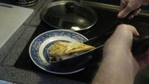 Omelet Sliding Out of Pan