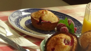 Lemon Raspberry Muffin