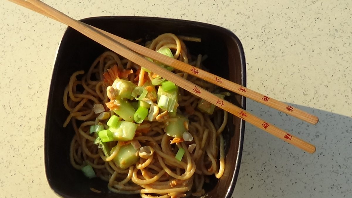 Classic Cold Noodles with Peanut Sauce « Marcey's Table