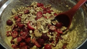 Fold in Cranberries & Nuts
