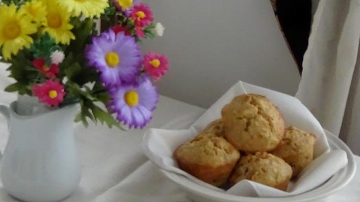 Pineapple Carrot Raisin Muffins